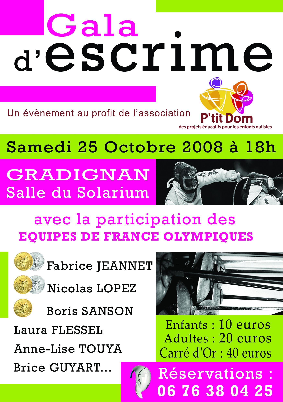 2008_Affiche GALA ESCRIME
