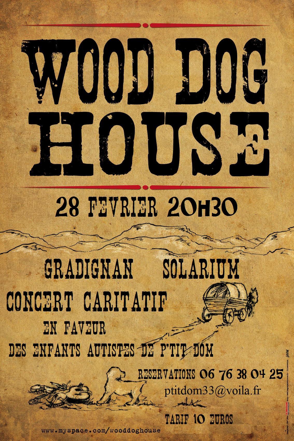 concert wood dog house